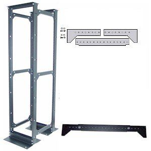 Rack-to-Frame Conversion Kit Converts 2 Relay Racks into a 4 post rack